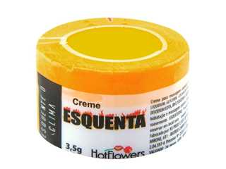 Creme excitante unissex Esquenta hot 3.5g - Hot Flowers